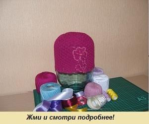 Женская вязаная шапочка ручной работы 2
