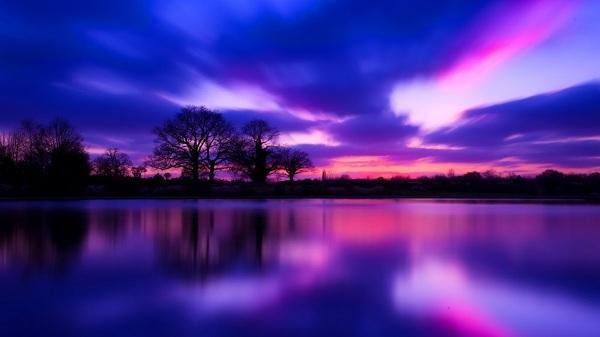 картина Фиолетовый закат