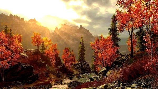 картина Осенние горы.