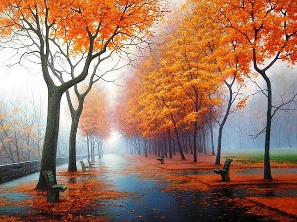 картина Осенняя аллея