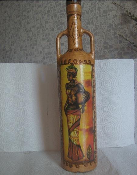 Декорированная бутылка 1