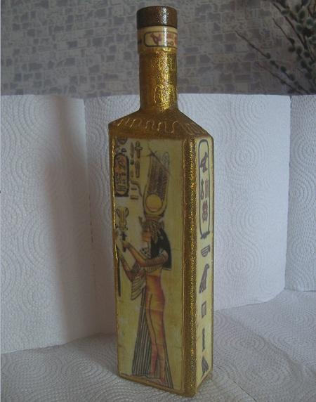 Декорированная бутылка 2