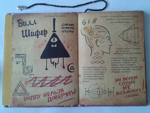 Как сделать дневник гравити фолз 3 часть на русском своими руками 76